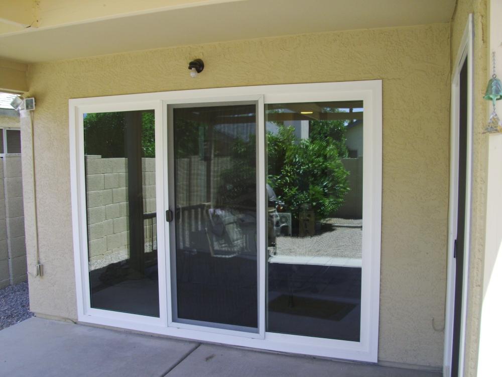 Gallery chs of az for 3 door sliding glass door