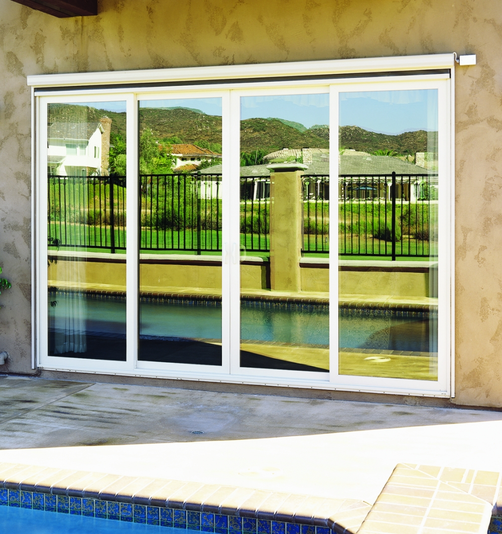 Exterior View Sliding Glass Door